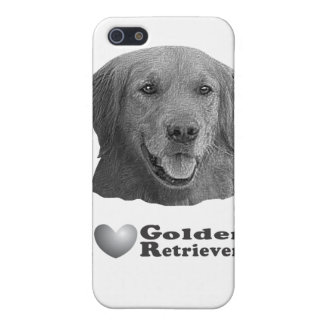 I Heart Golden Retrievers w Stylized Image iPhone 5 Case