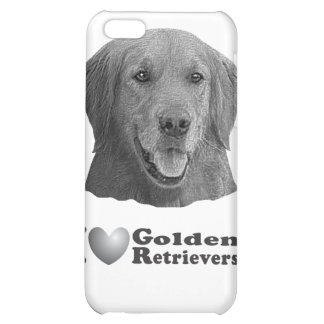 I Heart Golden Retrievers w Stylized Image iPhone 5C Covers