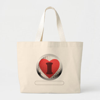 I HEART GOLF- add your words Jumbo Tote Bag