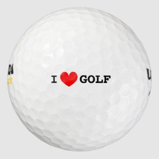 I heart golf balls   Personalizable i love text
