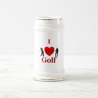I Heart Golf Beer Stein