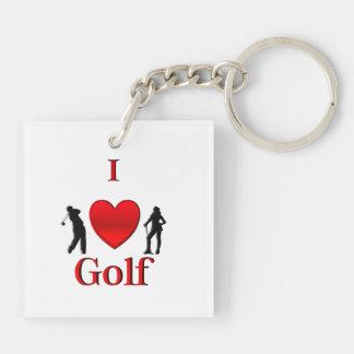 I Heart Golf Sport Keychain
