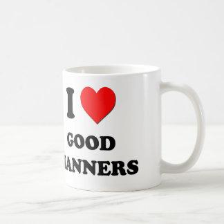 I Heart Good Manners Classic White Coffee Mug
