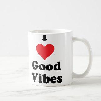 I (Heart) Good Vibes Classic White Coffee Mug