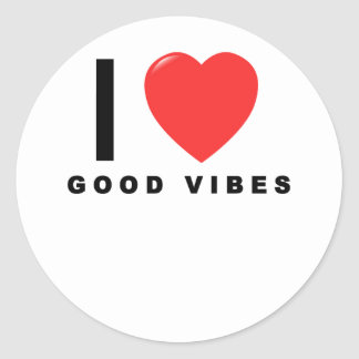 i heart good vibes shirt.png classic round sticker