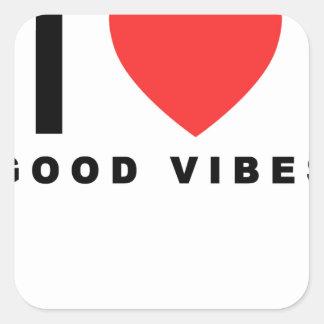 i heart good vibes shirt.png square sticker
