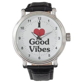 I heart good vibes wrist watch