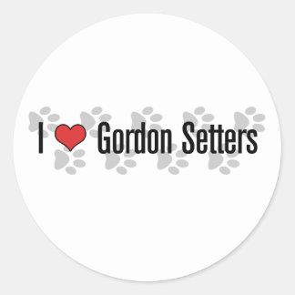 I (heart) Gordon Setters Classic Round Sticker
