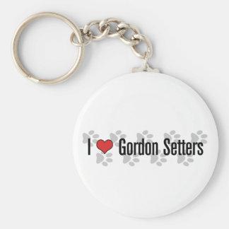 I (heart) Gordon Setters Keychain
