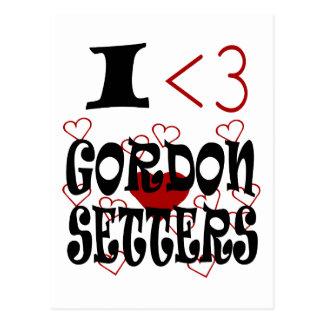 I Heart Gordon Setters Postcard