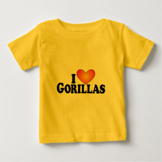 I (heart) Gorillas - Lite Products Baby T-Shirt