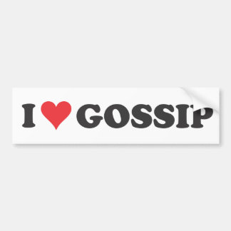 I Heart Gossip (long) Bumper Sticker