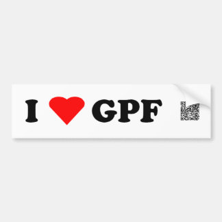I Heart GPF Bumper Sticker