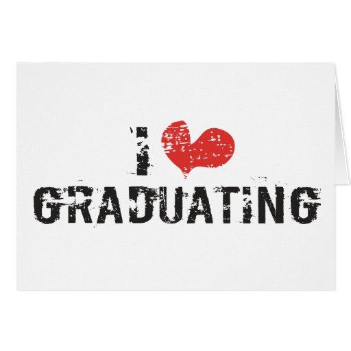 I heart Graduating Greeting Card