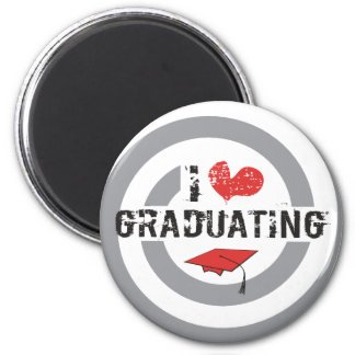 I heart Graduating 2 Inch Round Magnet