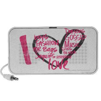 I Heart Graffiti Lt. Pink iPhone Speakers