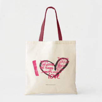 I Heart Graffiti Magenta Tote Bag