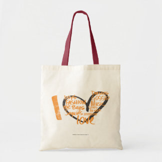 I Heart Graffiti Orange Bag