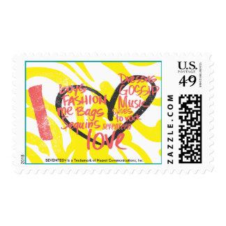 I Heart Graffiti Pink Postage Stamp