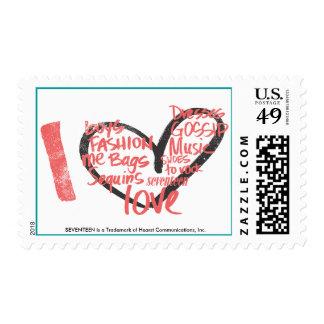 I Heart Graffiti Pink Stamp