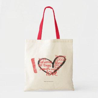 I Heart Graffiti Pink Tote Bag