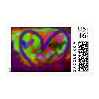 I Heart Graffiti Postage Stamp