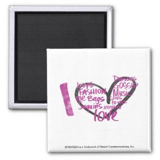 I Heart Graffiti Purple Magnet
