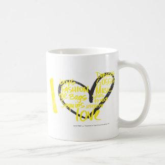 I Heart Graffiti Yellow Classic White Coffee Mug