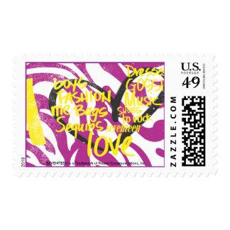 I Heart Graffiti Yellow Postage