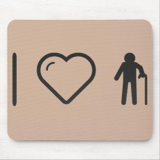 I Heart Grandfather Postures Mouse Pad
