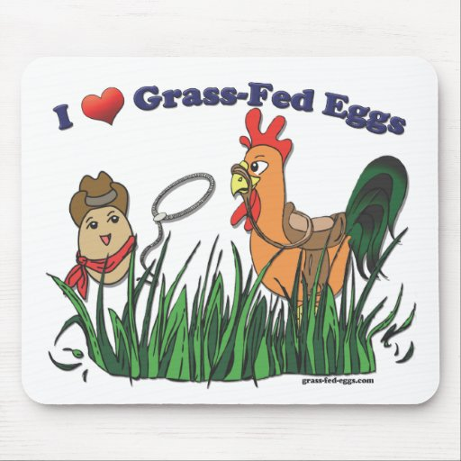 I Heart Grass-Fed Eggs Mouse Pad