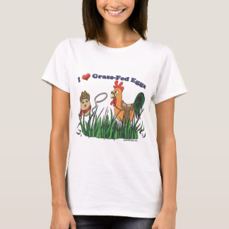 I Heart Grass-Fed Eggs T-Shirt