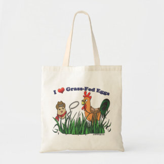 I Heart Grass-Fed Eggs Tote Bag