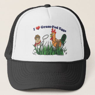 I Heart Grass-Fed Eggs Trucker Hat