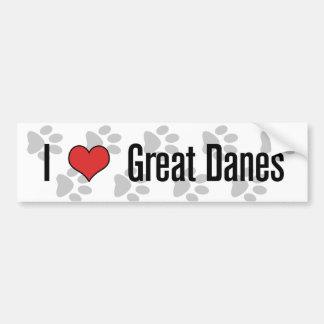 I heart Great Danes Bumper Sticker