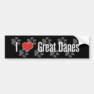 I (heart) Great Danes Bumper Sticker