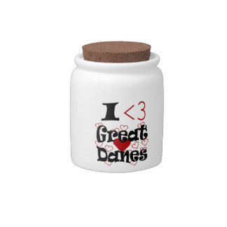 I Heart Great Danes Candy Jars