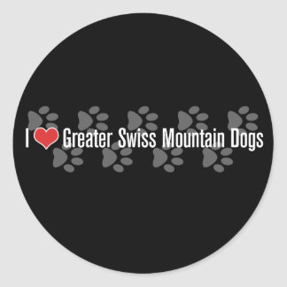 I (heart) Greater Swiss Mountain Dogs Round Stickers