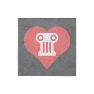 I Heart Greek Theater Vector Stone Magnet