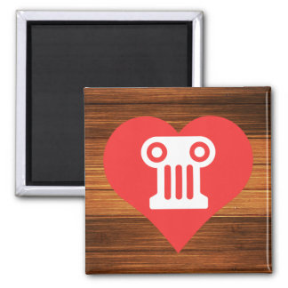 I Heart Greek Theater Vector 2 Inch Square Magnet