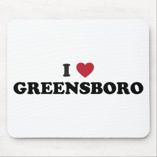 I Heart Greensboro North Carolina Mouse Pad