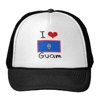 I HEART GUAM MESH HATS