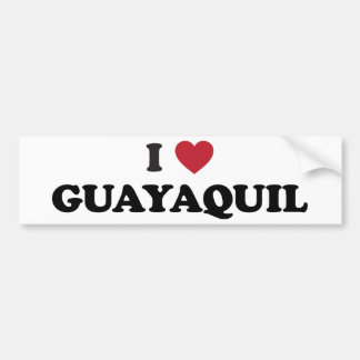 I Heart Guayaquil Ecuador Car Bumper Sticker