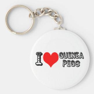 I (heart) Guinea Pigs Keychain
