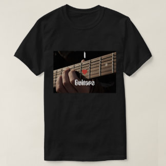 I Heart Guitars with Hands on Fret Image T-Shirt