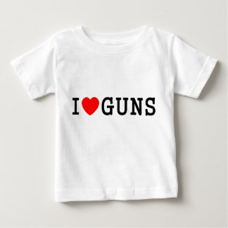 I Heart Guns Baby T-Shirt