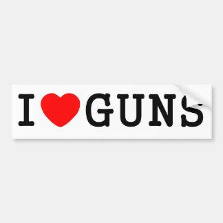 I Heart Guns Car Bumper Sticker