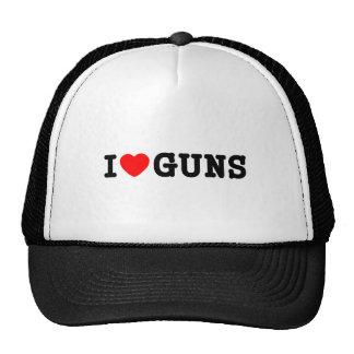 I Heart Guns Trucker Hat