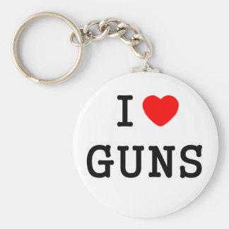 I Heart Guns Basic Round Button Keychain