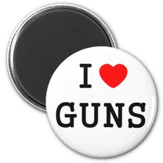 I Heart Guns 2 Inch Round Magnet